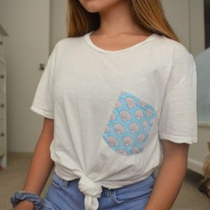 Brandy Melville Ieva Sea Shell Pocket Tee